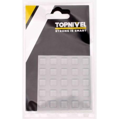 Tope Proteccion Golpes 10X10X2,5Mm Adhesivo Antidesl Tra Nivel 25 Pz