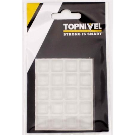 Tope Proteccion Golpes 12,5X12,5X5,8Mm Adhesivo Antidesl Tra Nivel 20 P