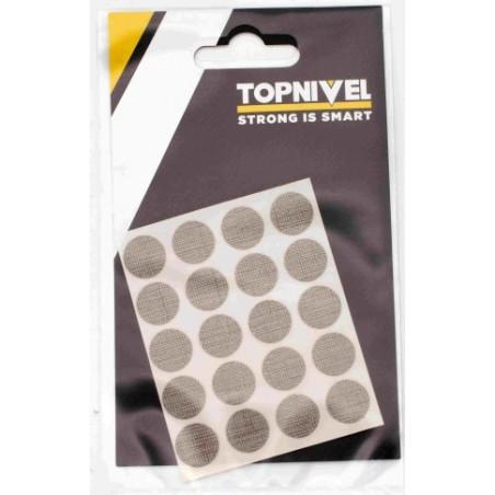 Tapon Cubretornillo Adhesivo 13Mm Textil Oscuro Nivel 20 Pz