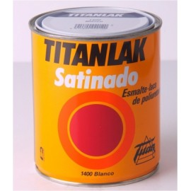 Esmalte Laca Satinado  4 Lt Blanco Interior/Exterior  Poliuretano  Titan Titanlak