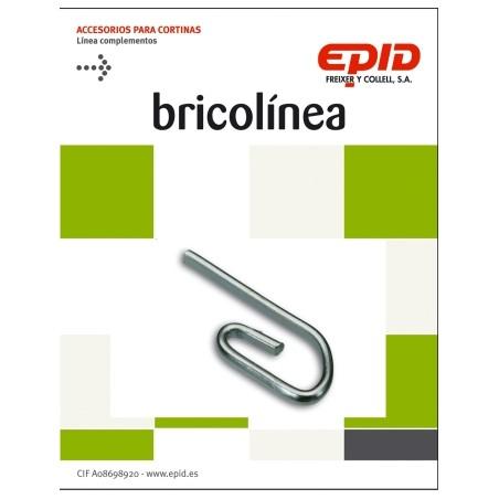 Garfio Cortina Simple Cincado Epid 36 Pz
