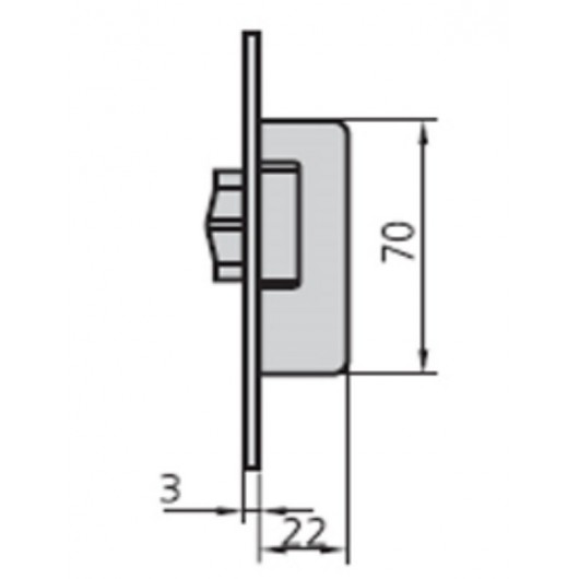 Cerradura Metalica Embutir 22X12Mm 1963Rv/0 Niquel Cvl