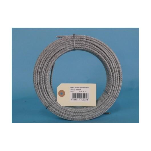 Cable Acero Galvanizado 6X7+1 2Mm Cursol 25 Mt