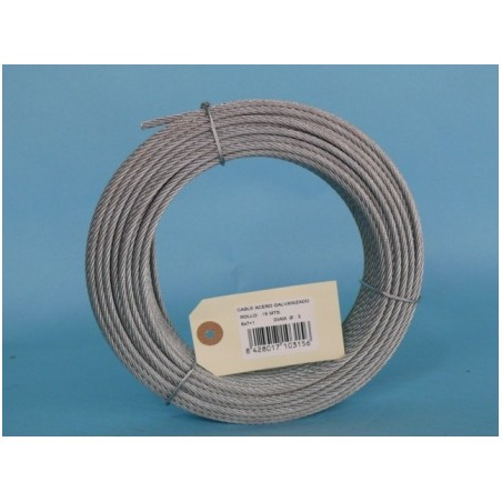 Cable Acero Galvanizado 6X7+1 3Mm Cursol 15 Mt