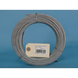 Cable Acero Galvanizado 6X7+1 3Mm Cursol 25 Mt