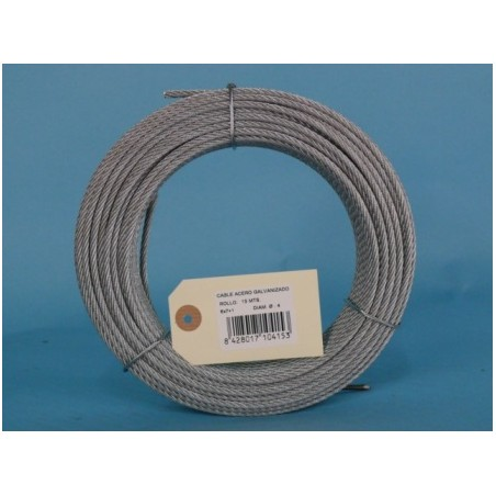 Cable Acero Galvanizado 6X7+1 4Mm Cursol 15 Mt