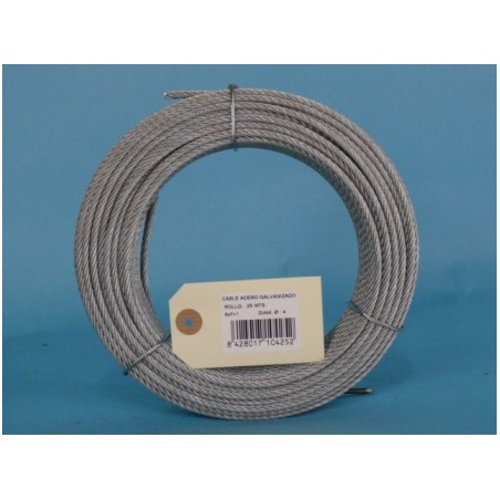 Cable Acero Galvanizado 6X7+1 4Mm Cursol 25 Mt