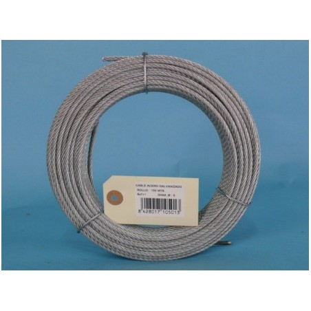 Cable Acero Galvanizado 6X7+1 5Mm Cursol 100 Mt
