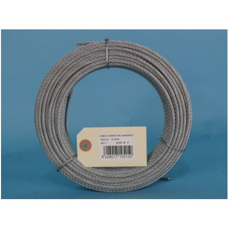 Cable Acero Galvanizado 6X7+1 5Mm Cursol 15 Mt