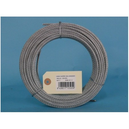 Cable Acero Galvanizado 6X7+1 5Mm Cursol 25 Mt