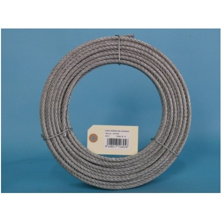 Cable Acero Galvanizado 6X7+1 6Mm Cursol 25 Mt