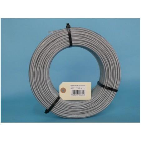 Cable Acero Galvanizado 6X7+1 04Mm Recubierto Pvc Cursol 100 Mt