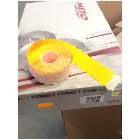 Etiqueta Adhesiva 26X12Cm Troquelada Naranja Fluorescente Meto 1.