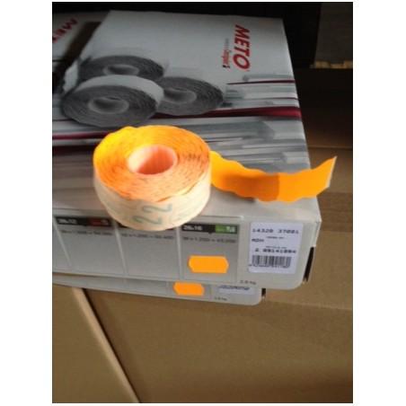 Etiqueta Adhesiva 26X16Cm Troquelada Naranja Fluorescente Meto 1.