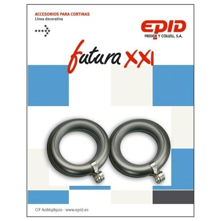 Anilla Cortina 19Mm Hogar Metal Niquel Futura 21 Epid 10 Pz