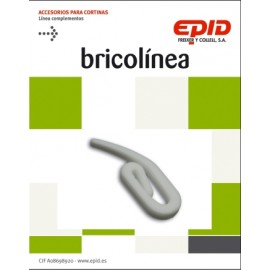 Garfio Cortina Simple Blanco Epid 36 Pz