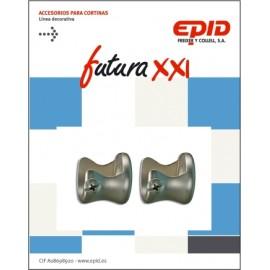 Soporte Barra Cortina 19Mm Lateral Metal Niq Later Futura 21 Epid