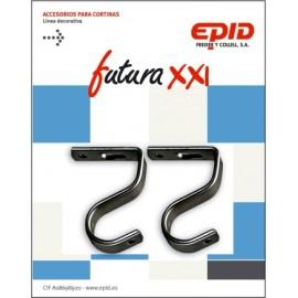 Soporte Barra Cortina 19Mm Techo Metal Ne Futura 21 Epid 2 Pz