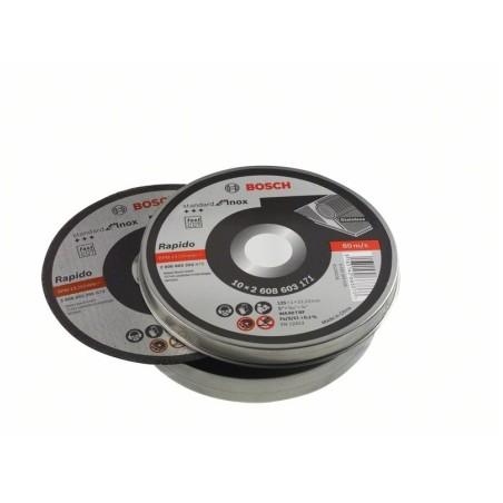 Disco Corte Inox 125X1 Mm Bosch 10 Pz