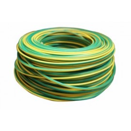Cable Electricidad 6Mm Hilo Flexible Nivel Amarillo/Verde 750V Cf1060 100 Mt