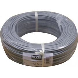 Cable Electricidad 1,5Mm Hilo Flexible Nivel Cobre Gris Libre Halogeno