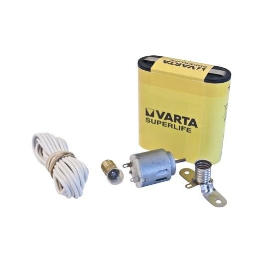 Motor Manualidades Cable Lampara Hepoluz Kit Escolar
