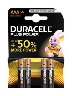 Pila Alcalina Lr03 Aaa 1,5V Power Plus Duracell 4 Pz