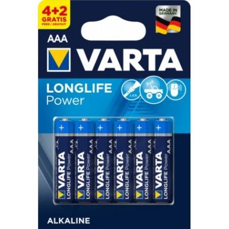 Pila Alcalina Lr03 Aaa 1,5V High Energy Varta 6 Pz