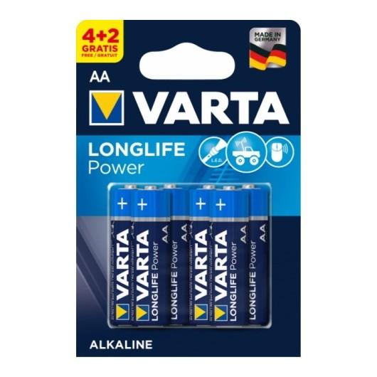 Pila Alcalina Lr06 Aa 1,5V High Energy Varta 6 Pz