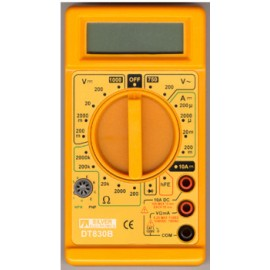Multimetro Electricista Digital  Categoria Ii Dt830B Silver Electricistat