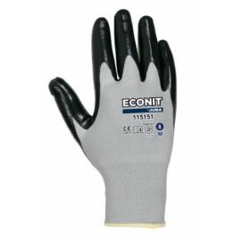 Guante Mecanico Xl10 Negro Eco-Nit Nylon Gris Juba