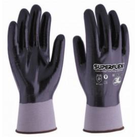 Guante Mecanico M08 Palma/Dorso Nitrilo Superflex Nylon Negro 3L