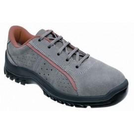 Zapato Seguridad T42 S1P Pu-Pu Puntera Plastico Metal Zion Snuman Piel Gr Pante