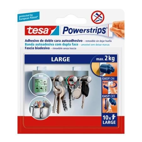 Colgador Hogar Adhesivo Reutilizable Recambio Tiras Large 10 Pz Tesatape