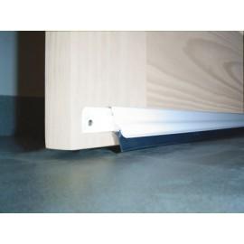 Burlete Bajo Puerta 093Cm Tornillos Interior/Exterior Cepillo Aluminio Blanco Basculante Burcasa