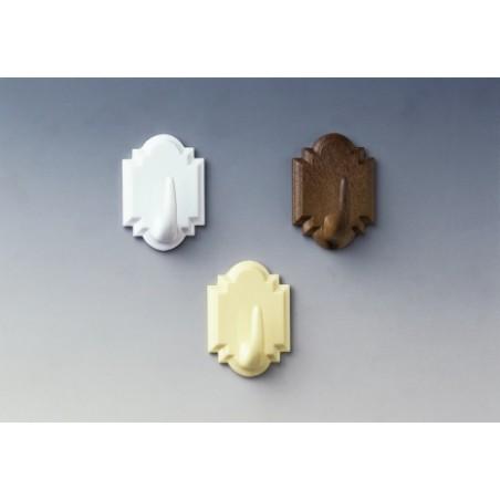 Colgador Hogar 45X32X21Mm Adhesivo Plastico Blanco 2061-3+ Inofix 2 Pz