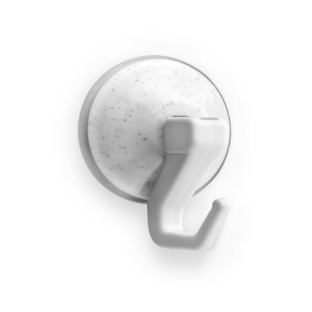 Colgador Hogar Ø 51X32Mm Ventosa Gancho Plastico Blanco  1208-2+ Inofix