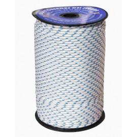 Cuerda Trenzada  05Mm Nylon Blanco /Azul Brillante Hyc 200 Mt