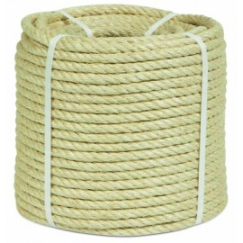 Cuerda Torcida 08Mm Sisal Natural 4 Cabos Hyc 100 Mt