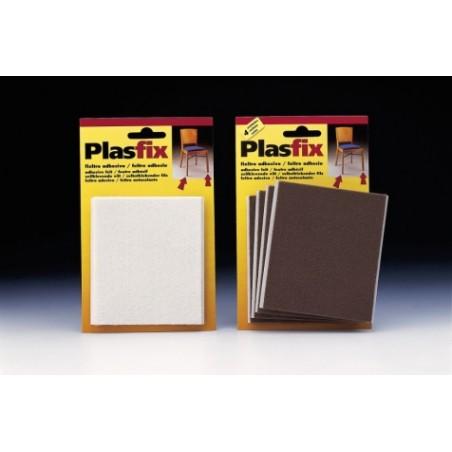 Fieltro Proteccion 100X85Mm Adhesivo Cuadrado Sintetico Marron  Inofix