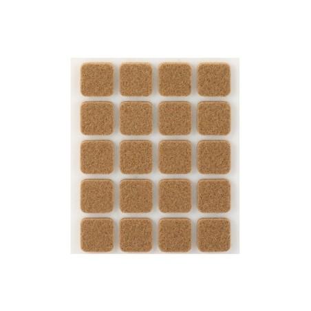 Fieltro Proteccion 17X17Mm Adhesivo Cuadrado Sintetico Marr Inofix