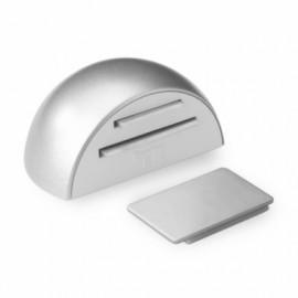Tope Puerta 26X52X38Mm Retenedor Adhesivo Cr/Mt Magnetico Inofix