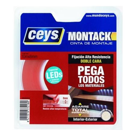 Cinta Adhesiva 08Mmx 10Mt Doble Cara  Montack Ceys