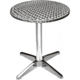 Mesa Hosteleria 60X70Cm Redonda Natuur Aluminio