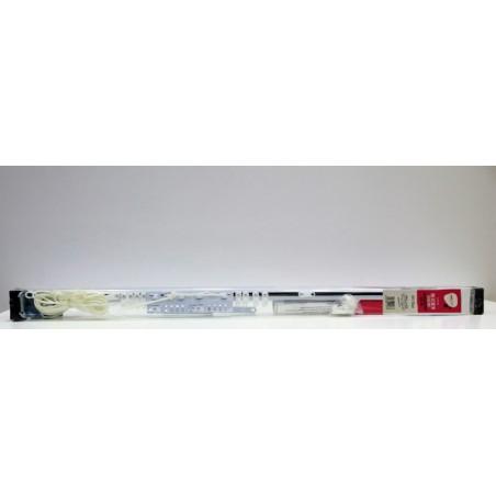 Riel Cortina 122/213Cm Extensible Vivah Met Bl Pared