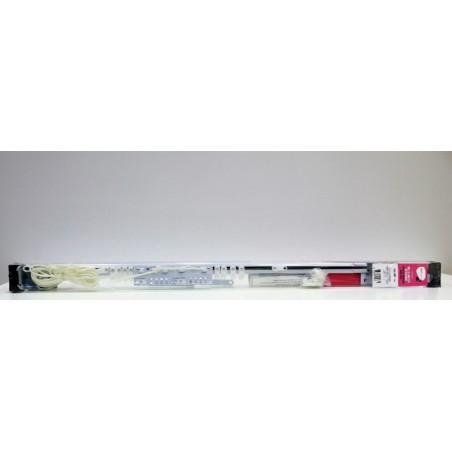 Riel Cortina 168/300Cm Extensible Vivah Met Bl Pared