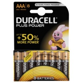 Pila Alcalina Lr03 Aaa 1,5V Power Plus Duracell 8 Pz